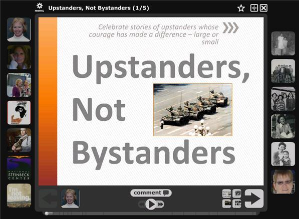 Upstanders not Bystanders