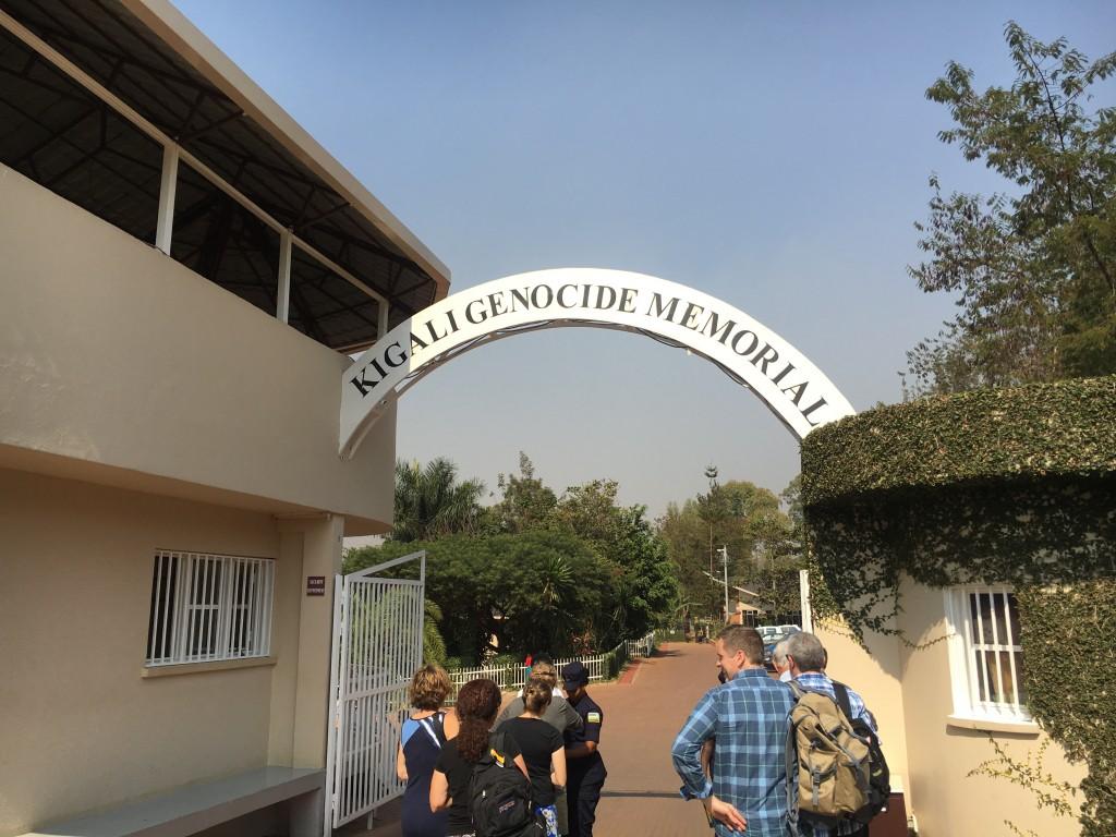 Entering the Kigali Genocide Memorial