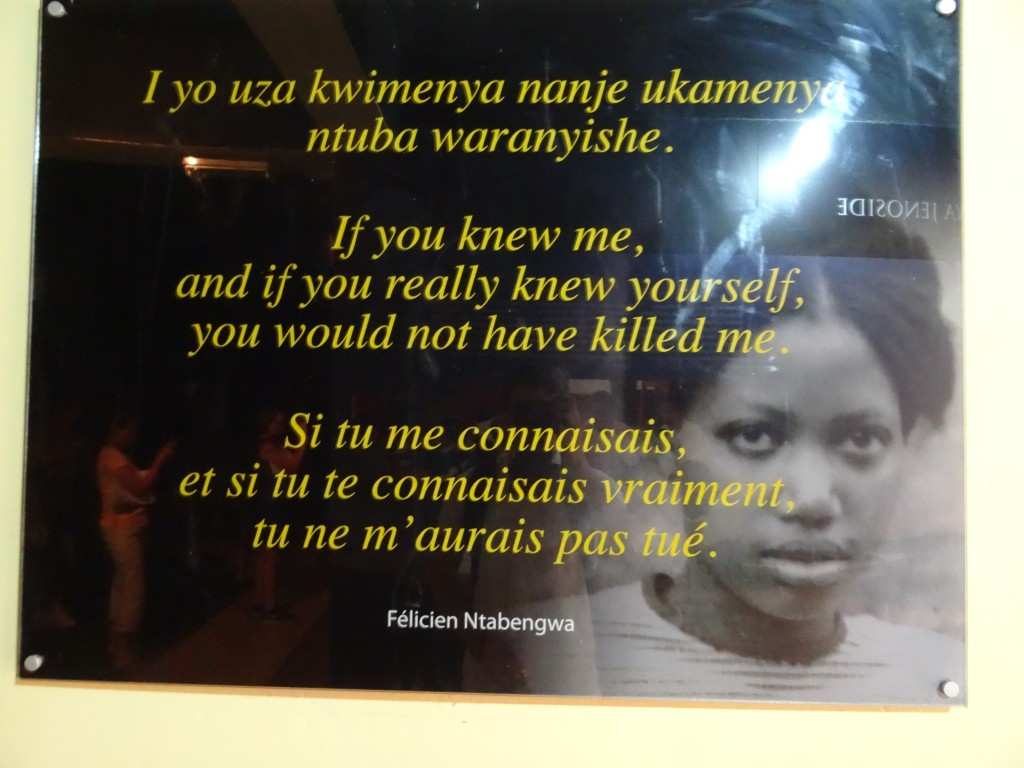 Hauntingly powerful words from the Murambi Genocide Memorial