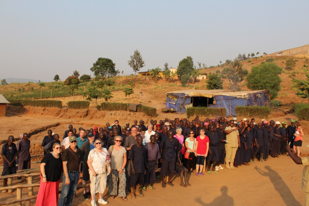 final good-byes - Magelegele TIG Camp, Rwanda. Photo by JP Bennett.