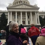 Photo of Gail Desler at Sacramento Women's March