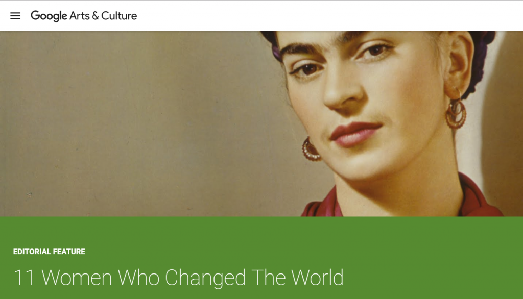 Google Cultural Institute - 11 women who changed the world