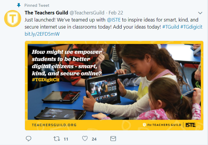ISTE and Teachers Guild sponsor a contest for creating digital citizenship lessons.