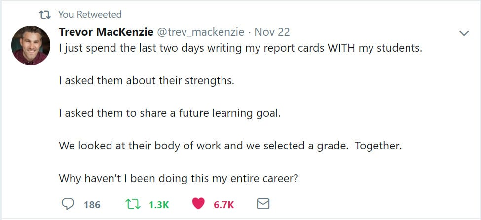 November 22 Tweet from Trevor McKenzie