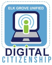 Elk Grove USD's badge for digital citizenship