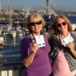Snapshot of Gail Desler and Natalie Bernasconi at Microsoft celebration in Seattle
